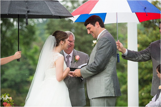 Rainy Day Roanoke Wedding as seen on Hill City Bride