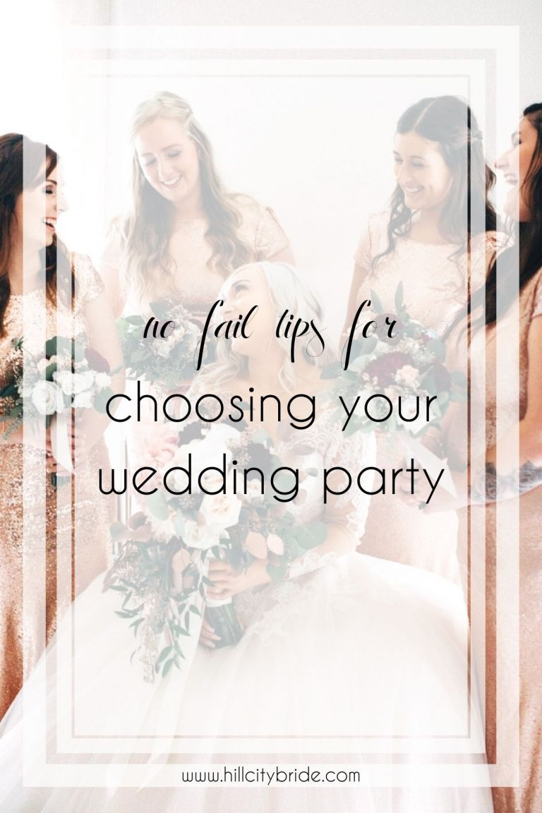Tips for Picking Your Wedding Party Roles | Hill City Bride Virginia Weddings