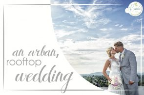 Lynchburg Rooftop Wedding as seen on Hill City Bride Virginia Downtown Pink Mint City