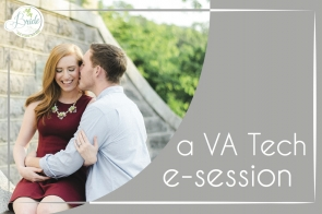 VA Tech E-session as seen on Hill City Bride by Kaitlyn Lane Photography