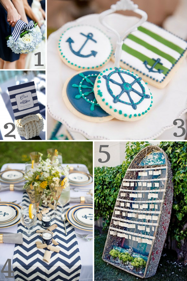 Nautical Wedding Inspiration as seen on Hill City Bride