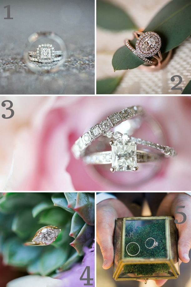 Engagement Ring Inspiration as seen on Hill City Bride Wedding Blog