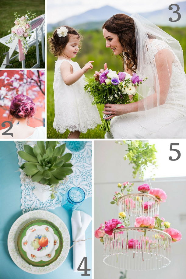 Spring Wedding Inspiration as seen on Hill City Bride