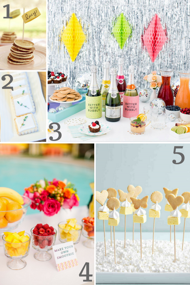 Bridal Shower Food Inspiration as seen on Hill City Bride
