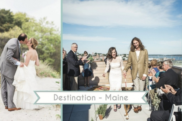 Destination Maine Weddings as seen on Hill City Bride Wedding Blog