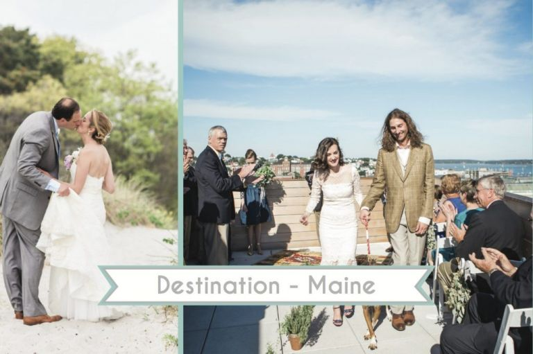 Destination Maine Weddings as seen on Hill City Bride Wedding Blog