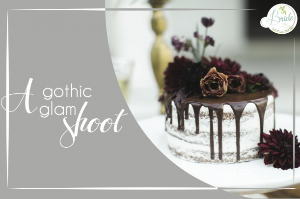 Gothic Glam Shoot as seen on Hill City Bride Wedding Blog