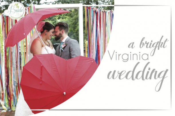 Bright Virginia Wedding as seen on Hill City Bride