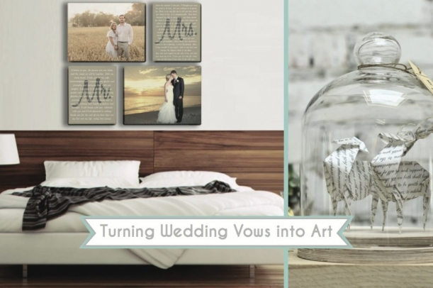Wedding Vow Art as seen on Hill City Bride
