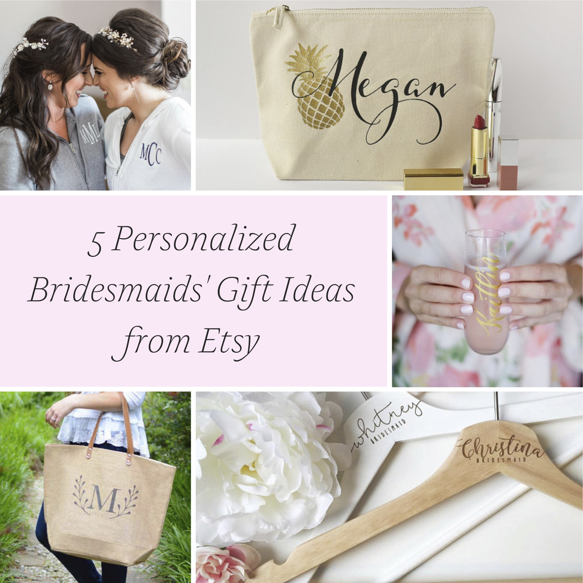 5 Personalized Bridesmaids' Gift Ideas
