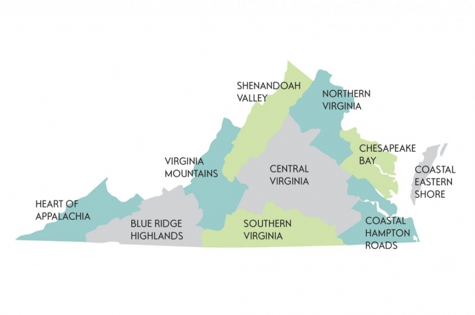 Central Virginia Map.Virginia Weddings By Region Hill City Bride Virginia Wedding Blog