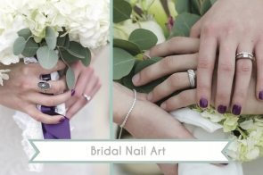 Bridal Nail Art as seen on Hill City Bride Wedding Blog
