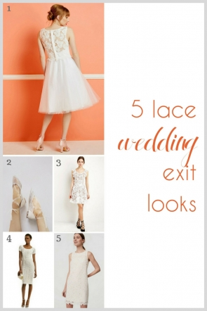 Lace Wedding Exit Looks as seen on Hill City Bride Wedding Blog