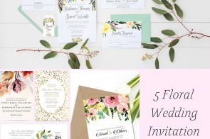 5 Floral Wedding Invitation Ideas as seen on Hill City Bride