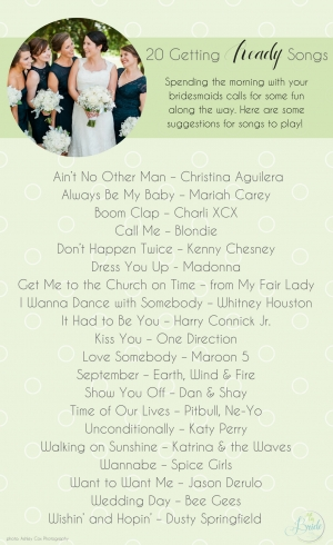 20 Getting Ready Songs for Your Wedding Day as seen on Hill City Bride Wedding Blog