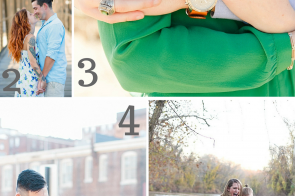 Engagement Session Inspiration as seen on Hill City Bride Wedding Blog