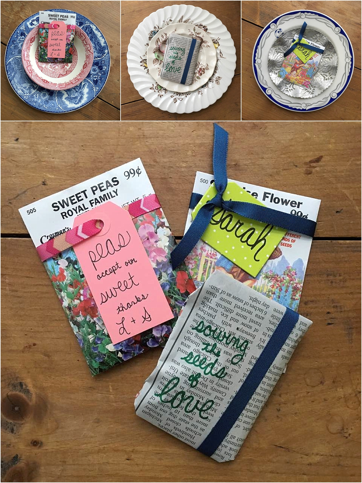 Eco-Friendly Plantable Wedding Favors Inspiration as seen on Hill City Bride