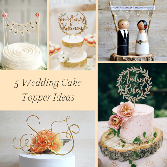 5 Wedding Cake Topper Ideas from Etsy as seen on Hill City Bride