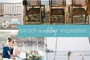 Beach Wedding Inspiration Board as seen on Hill City Bride - Jewelry Ocean Ceremony Sand Sea