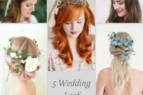 5 Wedding Leaf Crown Ideas as seen on Hill City Bride Flower Eucalyptus Vintage Gold
