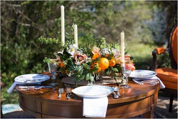 Citrus Bachelorette Party as seen on Hill City Bride Wedding Blog Flowers Orange