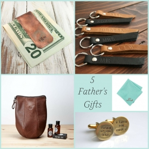 5 Father of the Bride Gifts and Father's Day Gifts as seen on Hill City Bride Wedding Blog