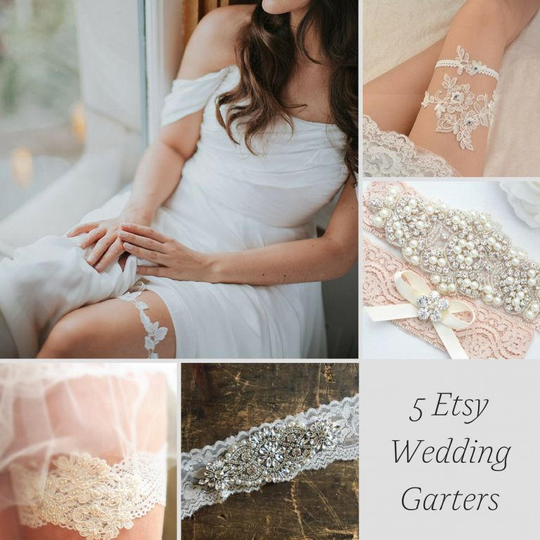 5 Etsy Wedding Garters as seen on Hill City Bride - lace, garter, bridal, accessory