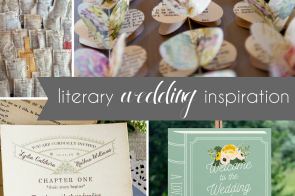 Literary Wedding Inspiration Book Wedding Ideas as seen on Hill City Bride - signage, invitation, favor, diy, banner