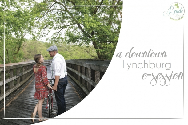 Downtown Lynchburg E-session as seen on Hill City Bride Wedding Blog
