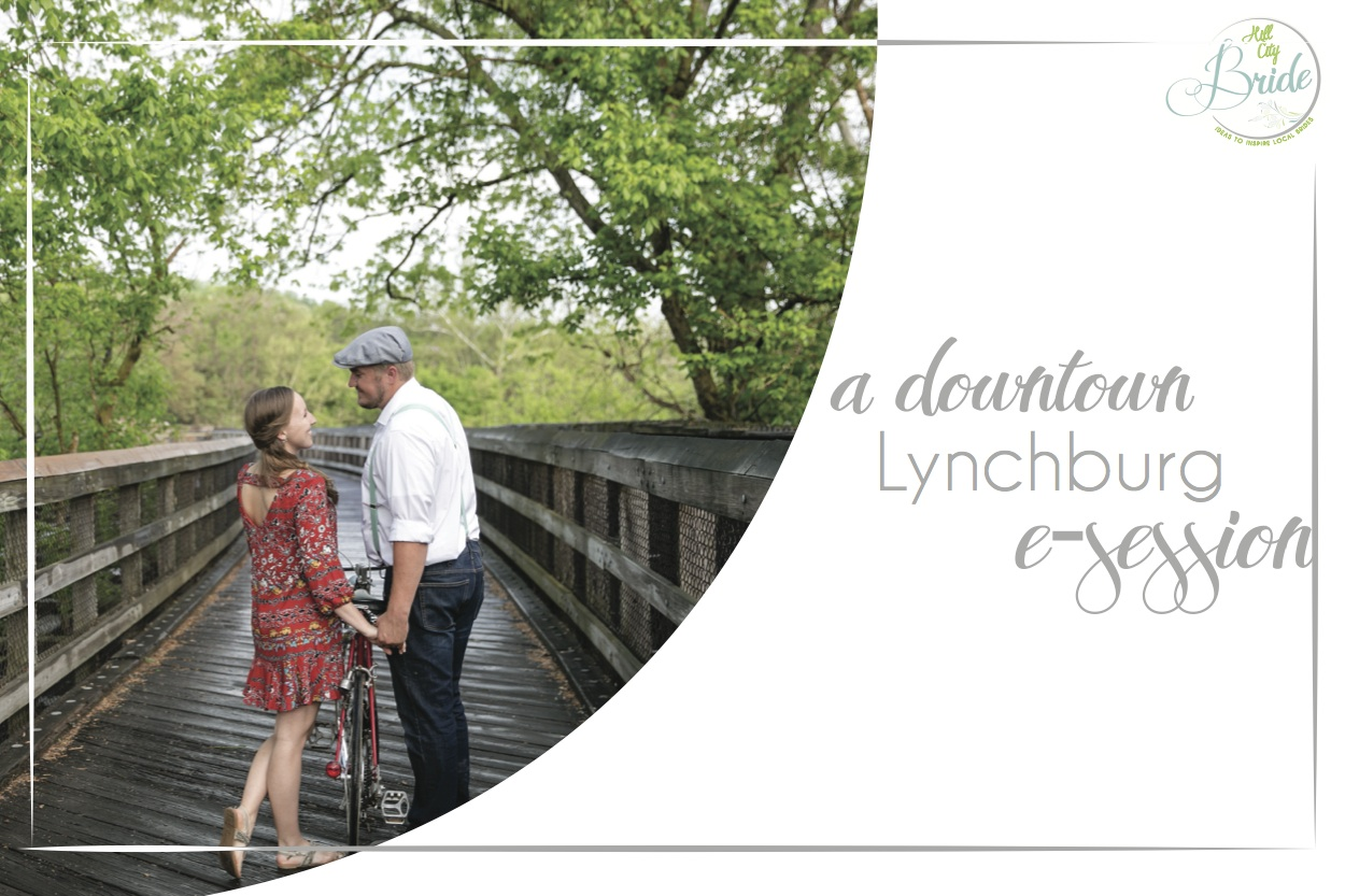 Downtown Lynchburg E-session as seen on Hill City Bride Wedding Blog