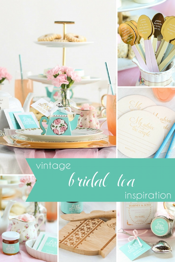 Vintage Bridal Tea Shower Inspiration as seen on Hill City Bride Virginia Wedding Blog - pink, green, favors, ideas
