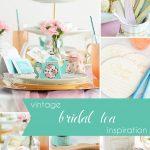 Vintage Bridal Tea Shower Inspiration as seen on Hill City Bride Virginia Wedding Blog - pink, green, favors, ideas