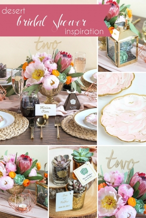 Desert Bridal Shower Inspiration as seen on Hill City Bride Virginia Wedding Blog - succulent, pink, green, party, inspiration