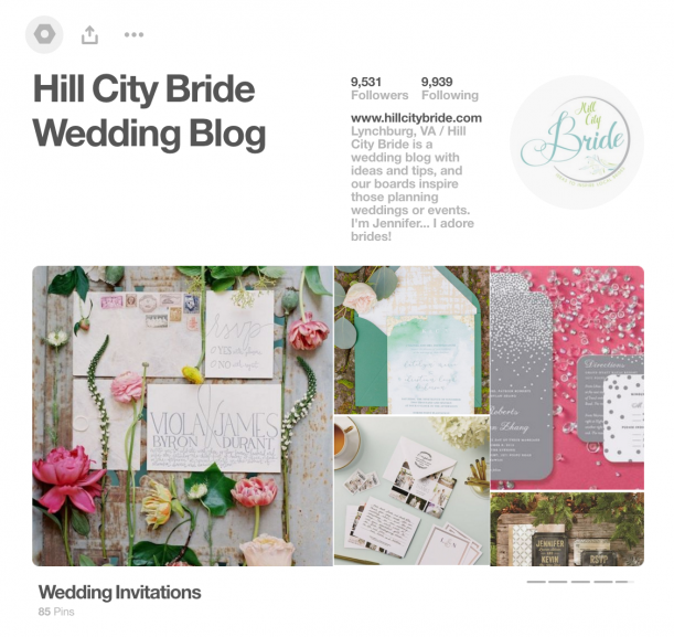 Hill City Bride Popular Pinterest Pins