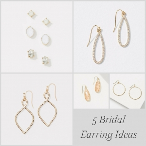 5 Bridal Earring Ideas as seen on Hill City Bride Virginia Wedding Blog