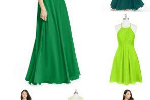 Green Bridesmaid Dress Inspiration as seen on Hill City Bride Wedding Blog