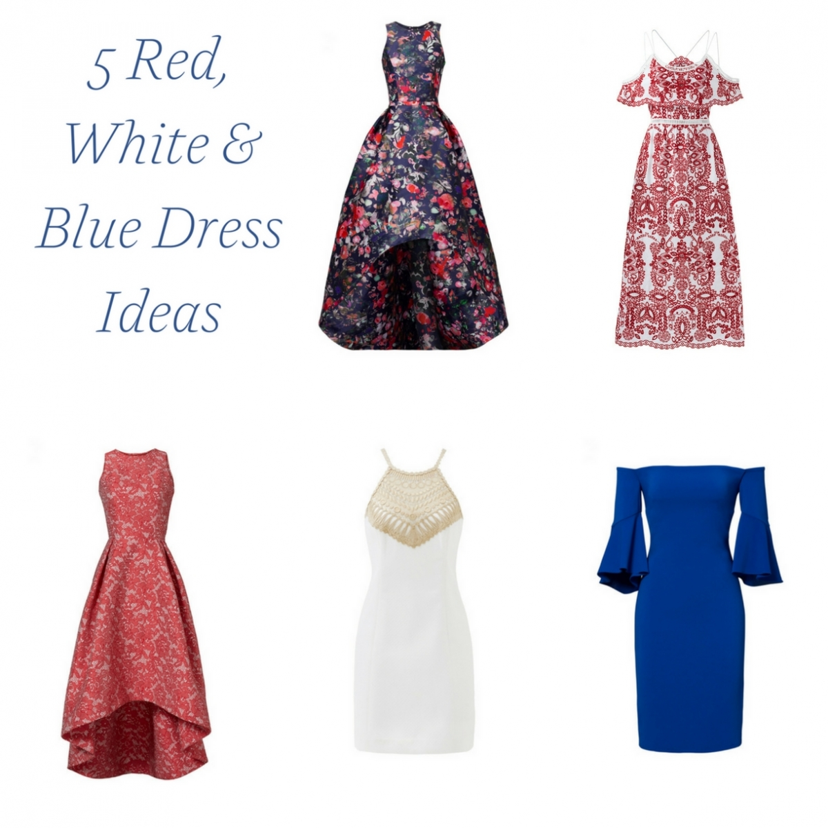 5 Red White & Blue Dress Ideas (for Rent!) » Hill City Bride ...
