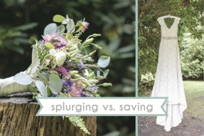 Splurge vs. Save on Weddings as seen on Hill City Bride Virginia Wedding Blog