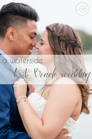 A Waterside Virginia Beach Wedding as seen on Hill City Bride Virginia Wedding Blog - navy, lavender, purple, coastal