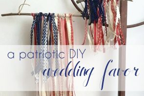 Patriotic DIY Wedding Favor as seen on Hill City Bride Virginia Wedding Blog and Magazine - 4th of July, military, flag, ribbon flag, americana