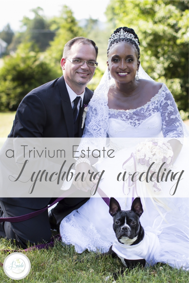 Trivium Estate Lynchburg Virginia Wedding Interracial with Dog as seen on Hill City Bride Blog and Magazine