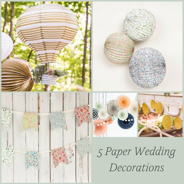 5 Paper Wedding Decorations for the DIY Bride as seen on Hill City Bride Virginia Wedding Blog