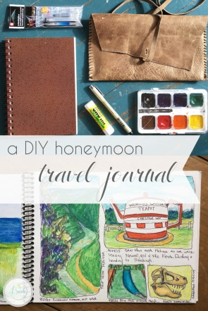 DIY Honeymoon Travel Journal as seen on Hill City Bride Wedding Travel Blog