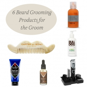 6 Beard Grooming Products for the Groom as seen on Hill City Bride Virginia Wedding Blog - oil, comb, shampoo, conditioner, scrub