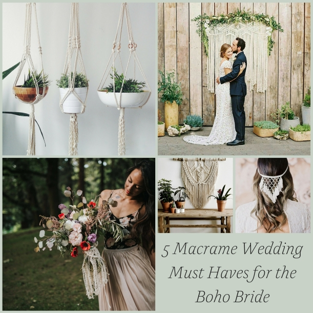 5 Macrame Wedding Must Haves for the Boho Bride as seen on Hill City Bride Virginia Wedding Blog