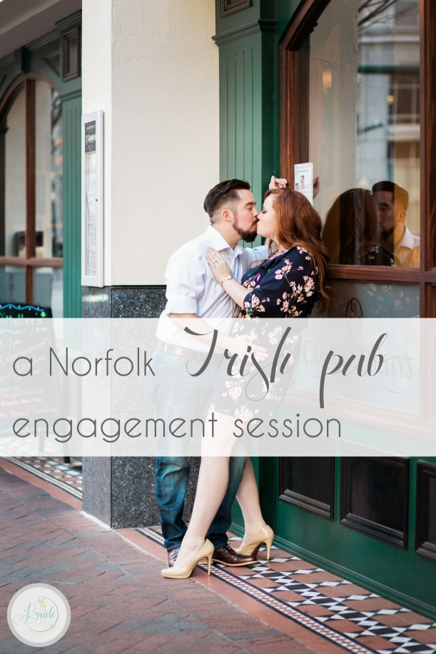 Norfolk Irish Pub Engagement Session as seen on Hill City Bride Virginia Wedding Blog - guiness, beer