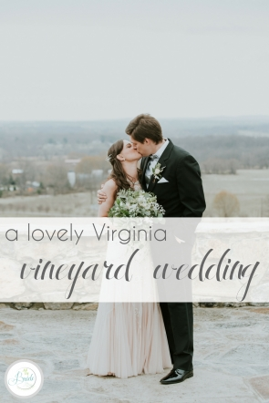 Lovely Virginia Vineyard Wedding as seen on Hill City Bride Blog by Vness Photography