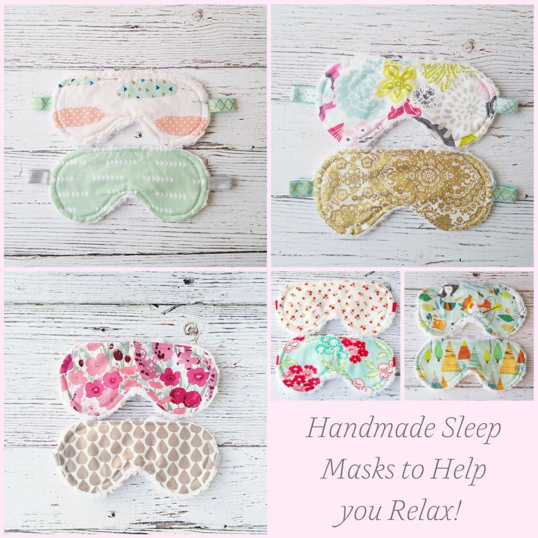 Handmade Sleep Masks to Help You Relax from Etsy as seen on Hill City Bride Virginia Wedding Blog