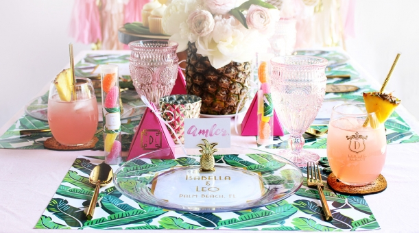 Tropical Bridal Shower Inspiration as seen on Hill City Bride Wedding Blog Virginia Magazine