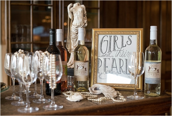 The Tides Inn Virginia Wedding Inspiration as seen on Hill City Bride Blog by Will Hawkins Photography - pearls, cocktail